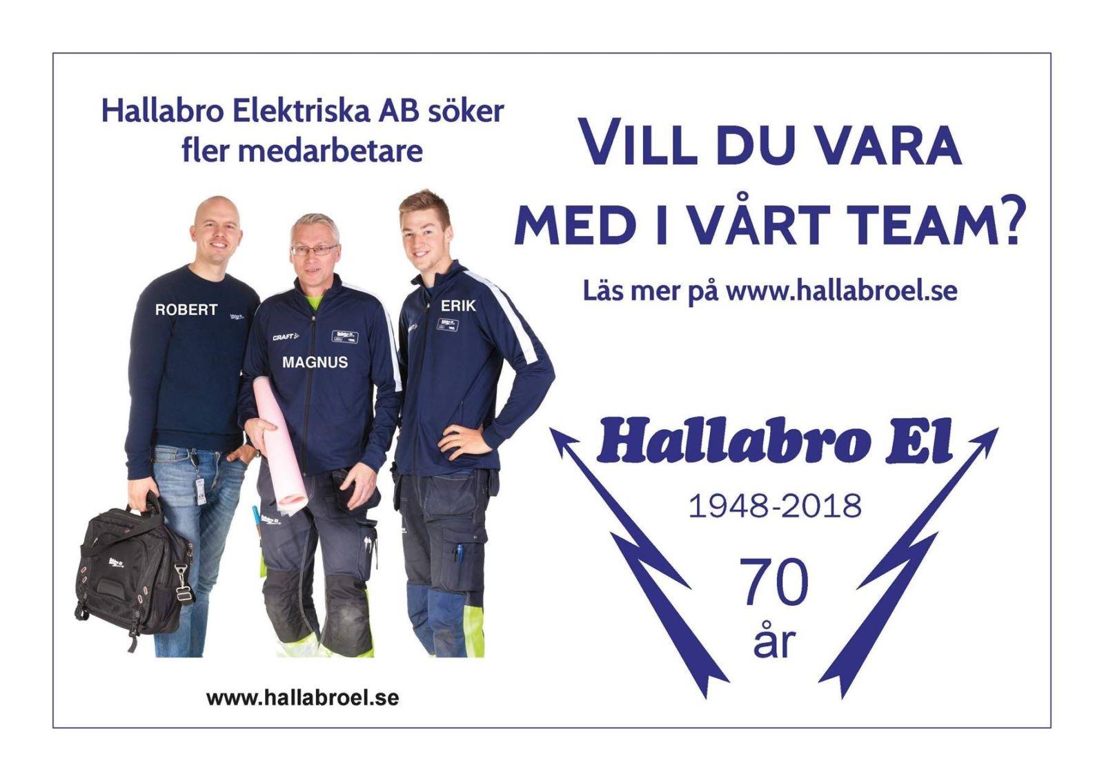 Vi söker nya medarbetare i Växjö, Kalmar och Karlskrona. Är du en nyfiken, driven och social utbildad elektriker inom installation, service eller tele/data är du välkommen att höra av dig till oss! Maila till emma.elheim@hallabroel.se alternativt ring 0477-555 51